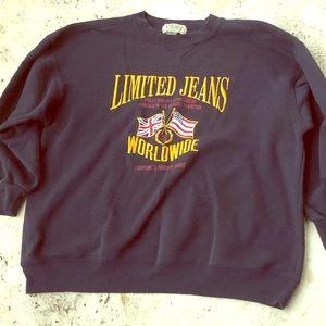 Limited Jeans Oversize Sweatshirt Union Jack USA